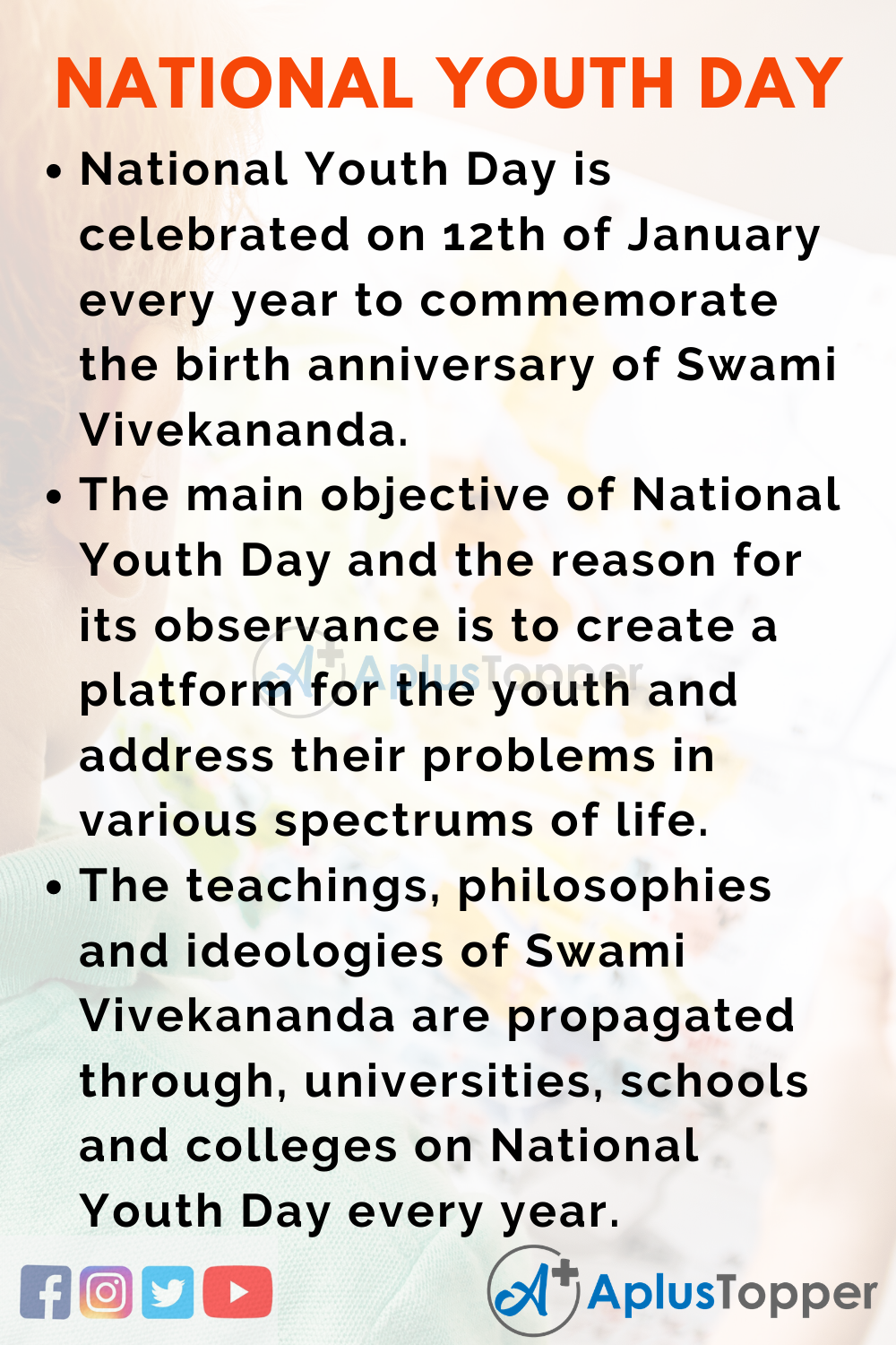 10 Lines on National Youth Day