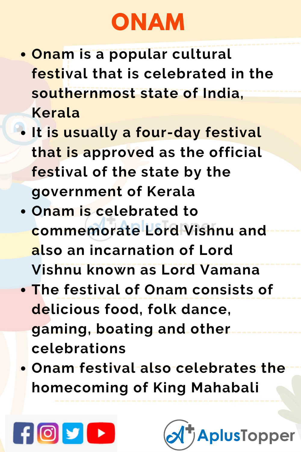 10 Lines on Onam for Kids