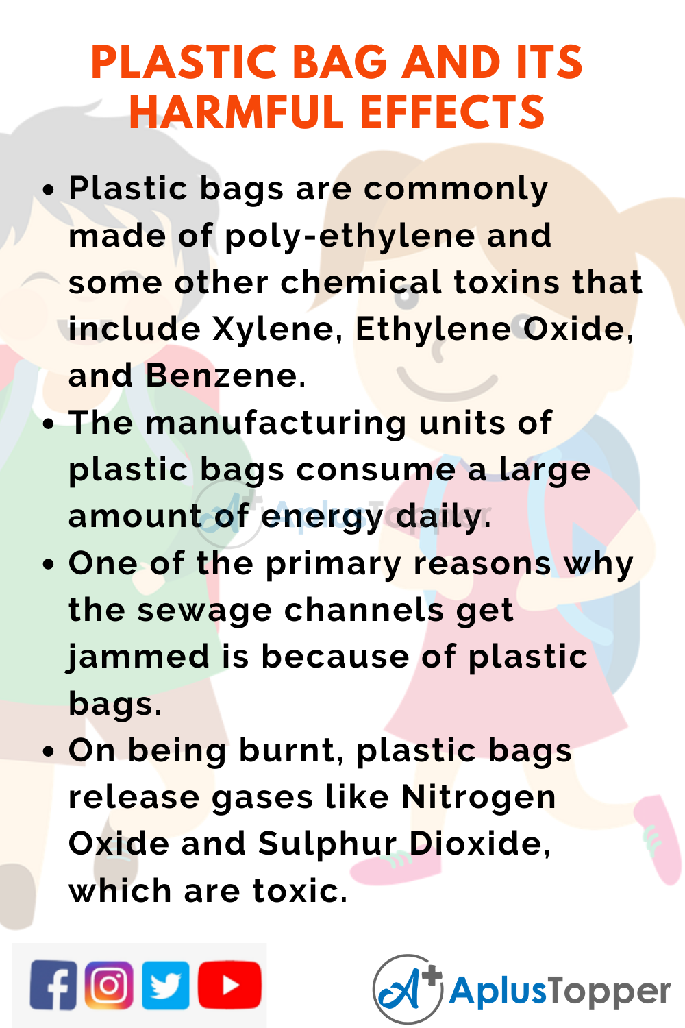 10 Lines on Plastic Bag And Its Harmful Effects for Higher Class Students