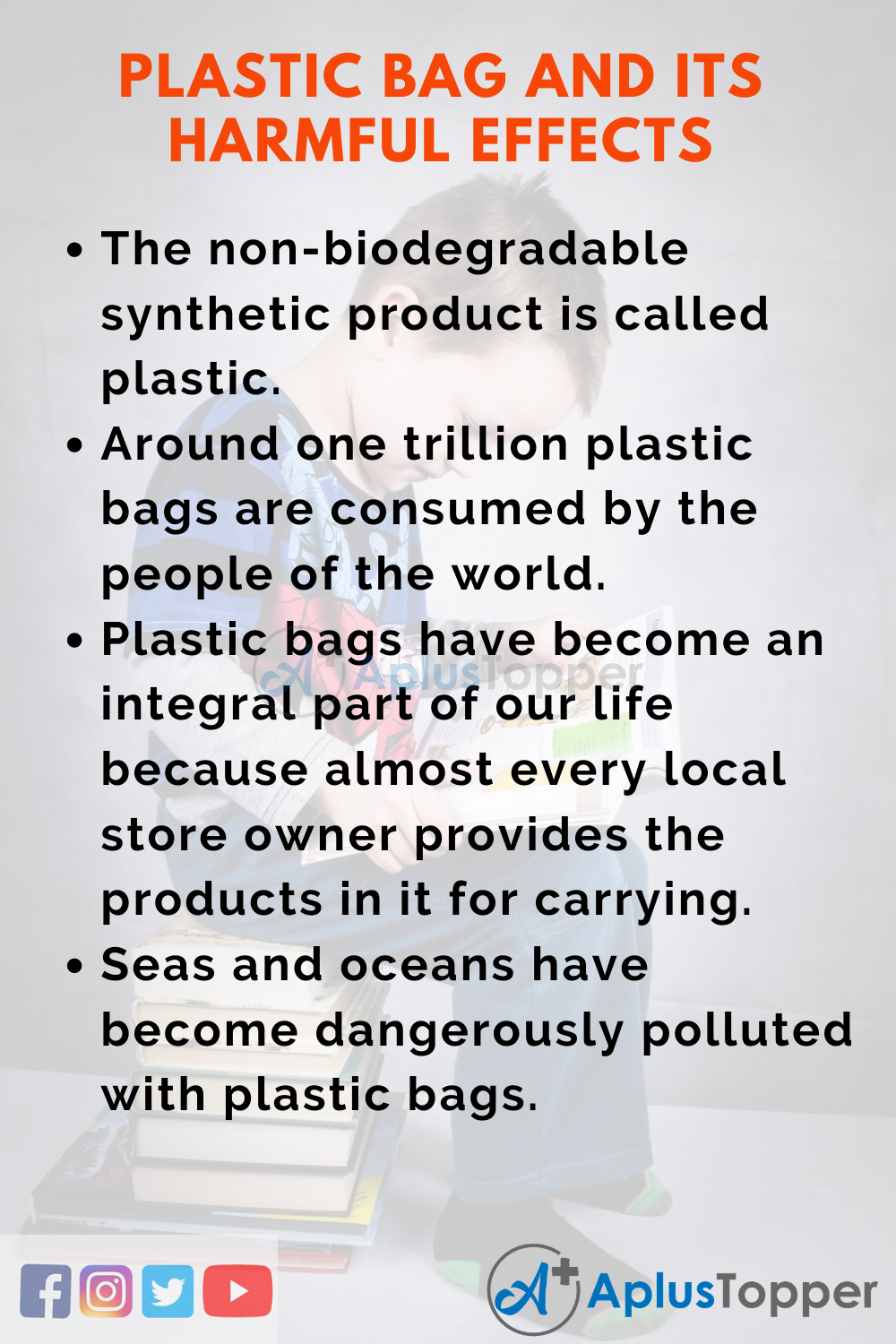 10 Lines on Plastic Bag And Its Harmful Effects for Kids