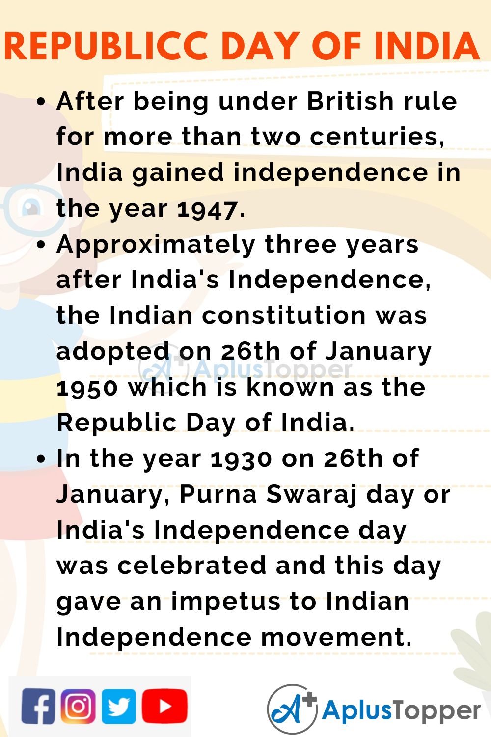 10 lines on republic day in english