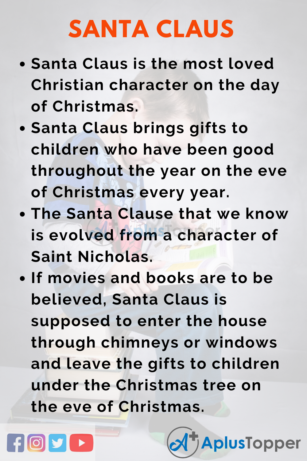 10 Lines on Santa Claus for Kids