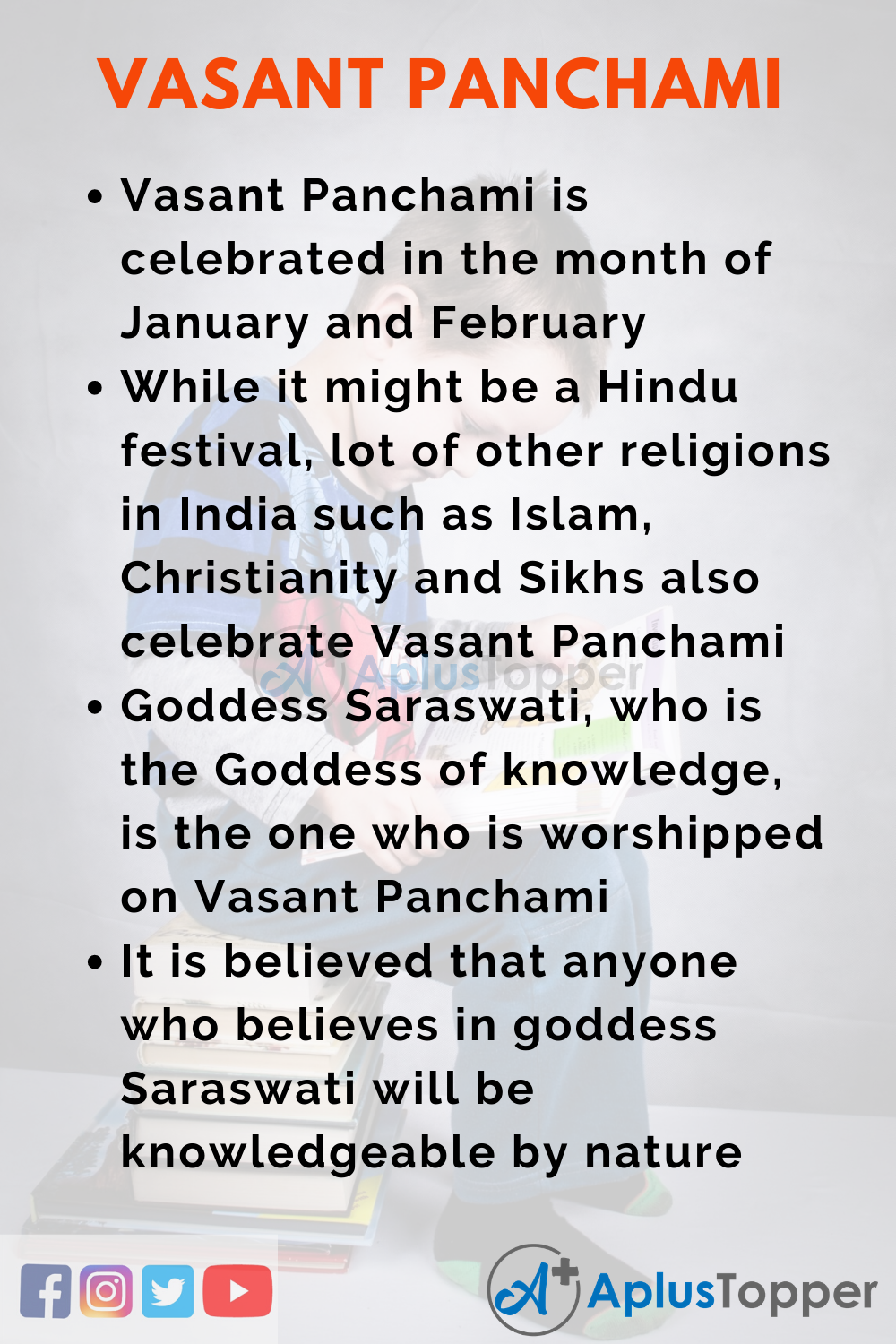 10 Lines on Vasant Panchami for Kids