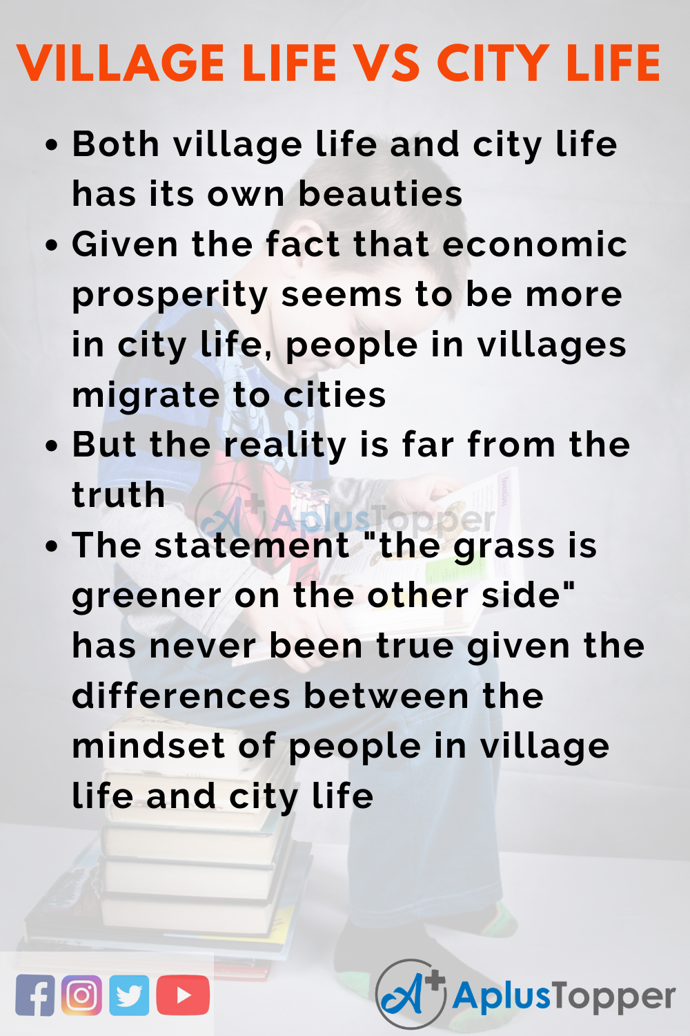 10 Lines on Village Life Vs City Life for Kids