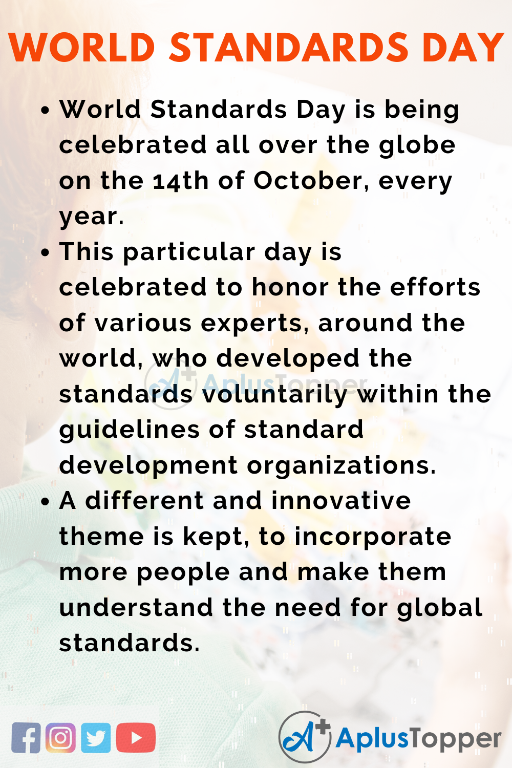 10 Lines on World Standards Day for Kids