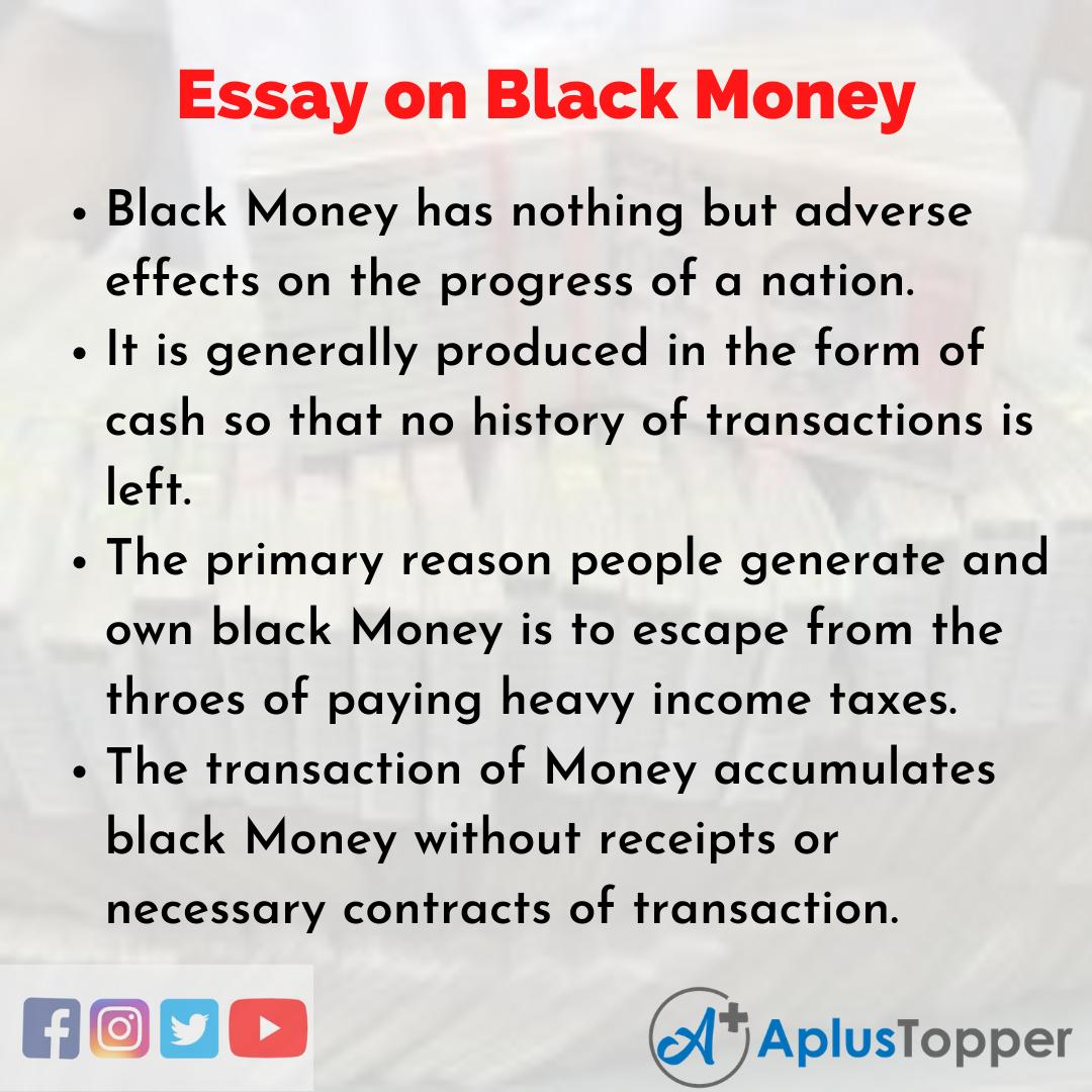 Essay on Black Money