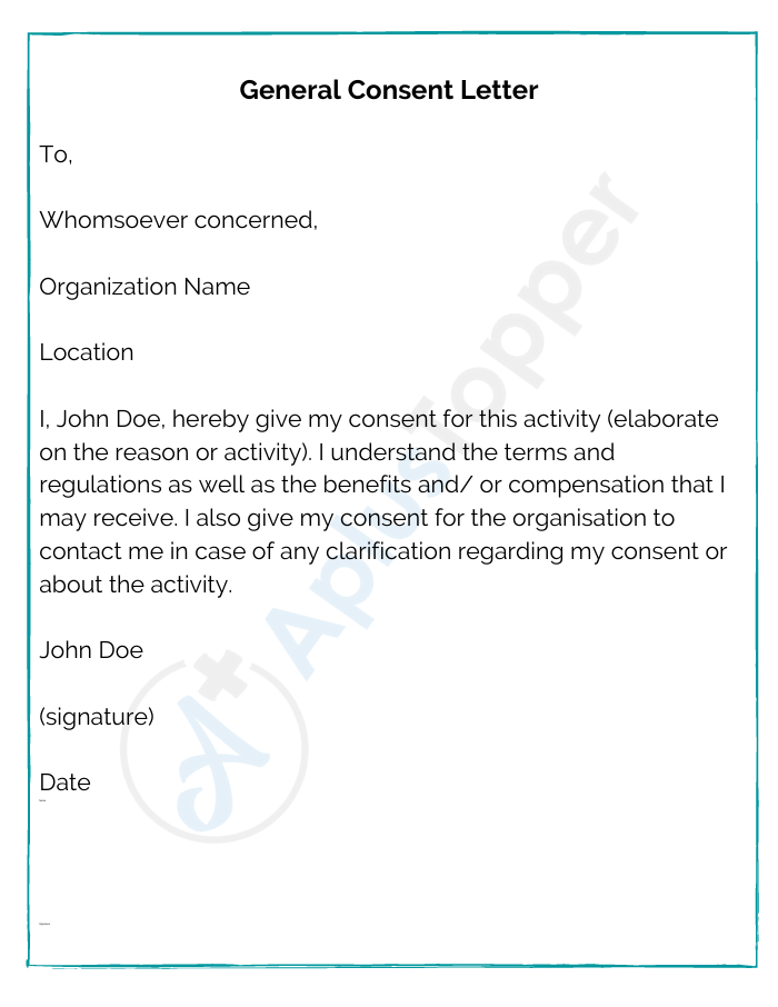 General Consent Letter