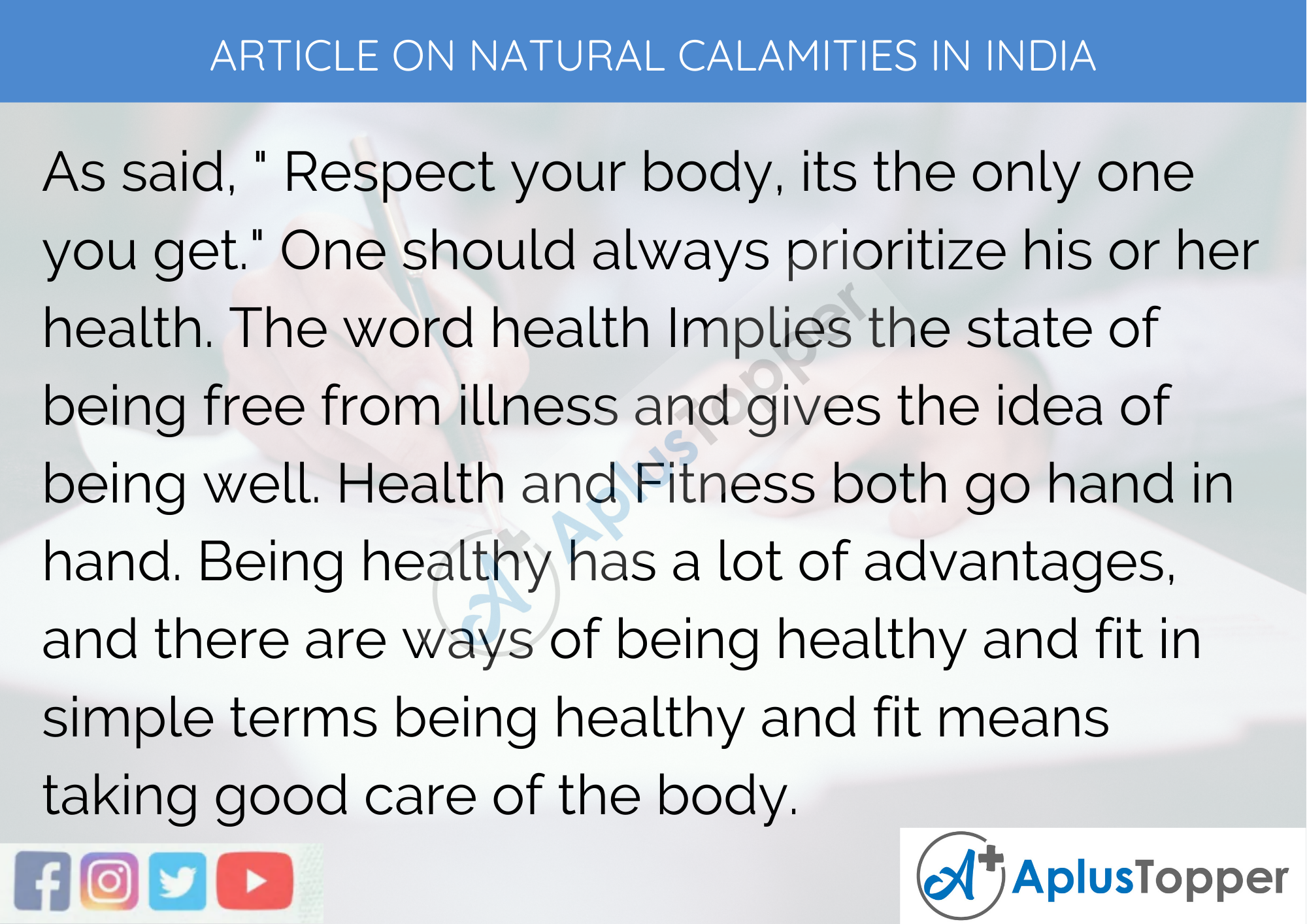 Long Article on Health and Fitness 600 Words in English