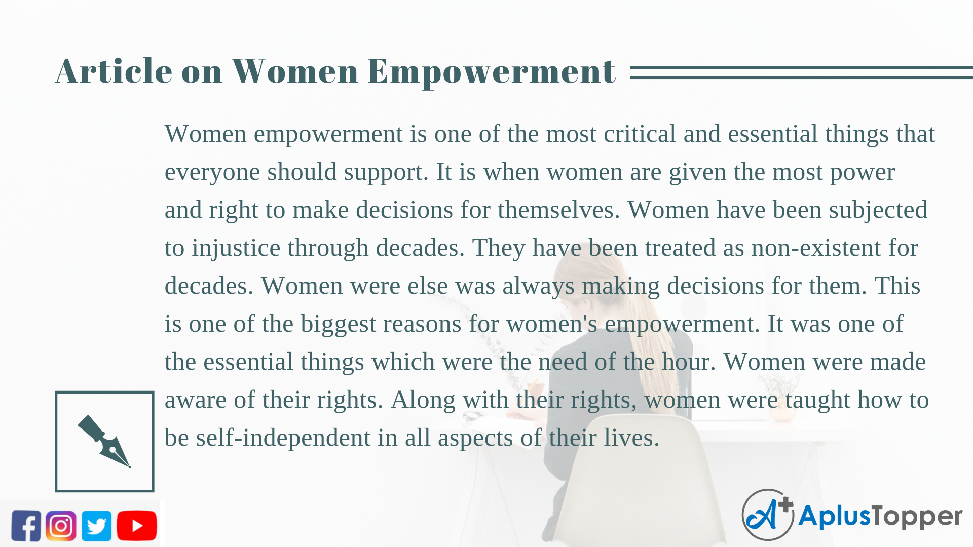 Long Article on Women Empowerment 500 Words