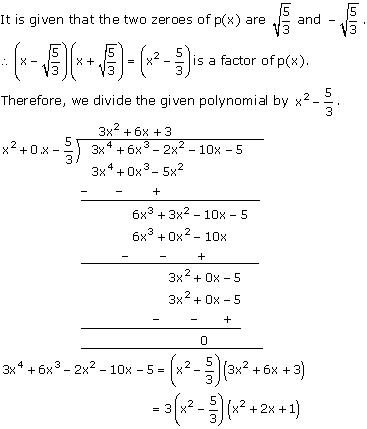 NCERT Solutions for Class 10 Maths Chapter 2 Polynomials 23