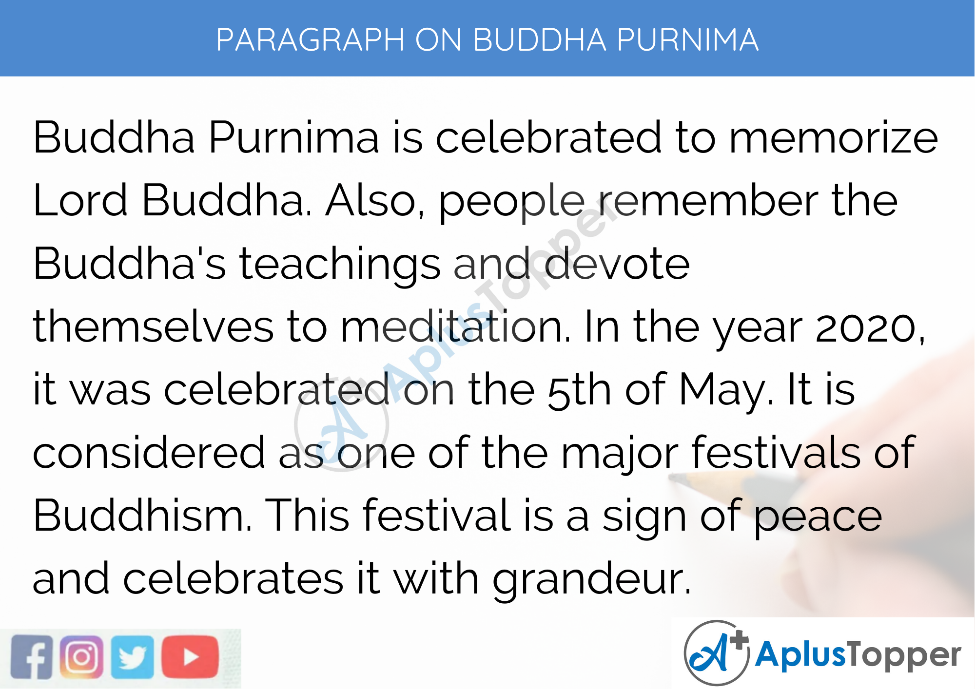 Paragraph On Buddha Purnima - 250 to 300 Words for Classes 9, 10, 11, 12 And Competitive Exam Students