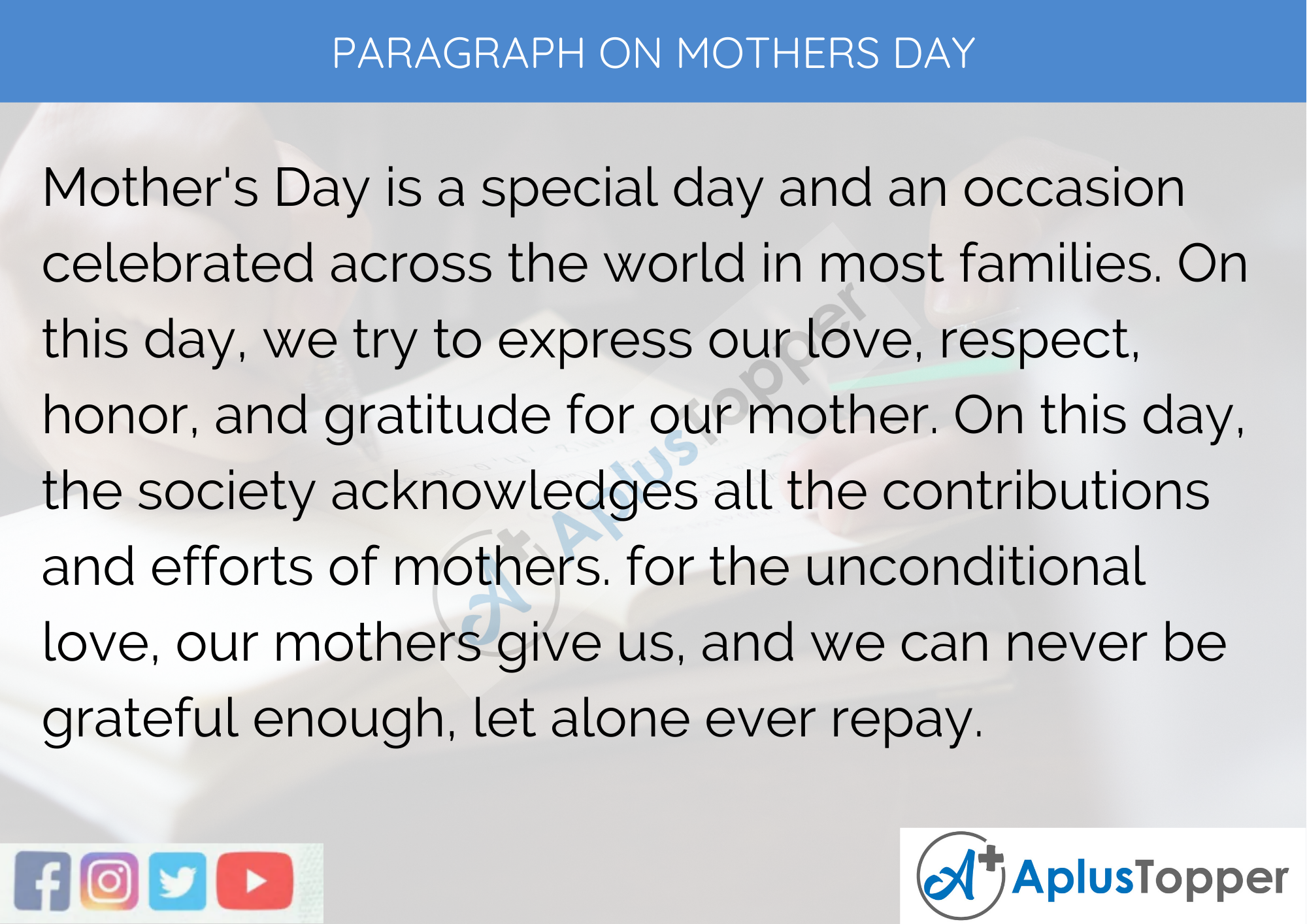 Paragraph On Mother's Day – 250 To 300 Words for Classes 9, 10, 11, 12 And Competitive Exams Students