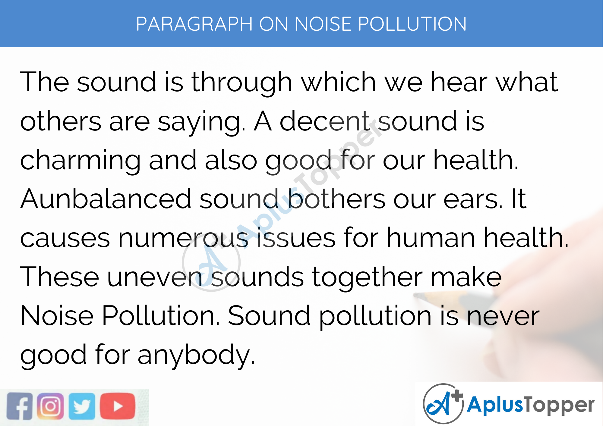 Paragraph On Noise Pollution - 100 Words for Classes 1, 2, 3 Kids