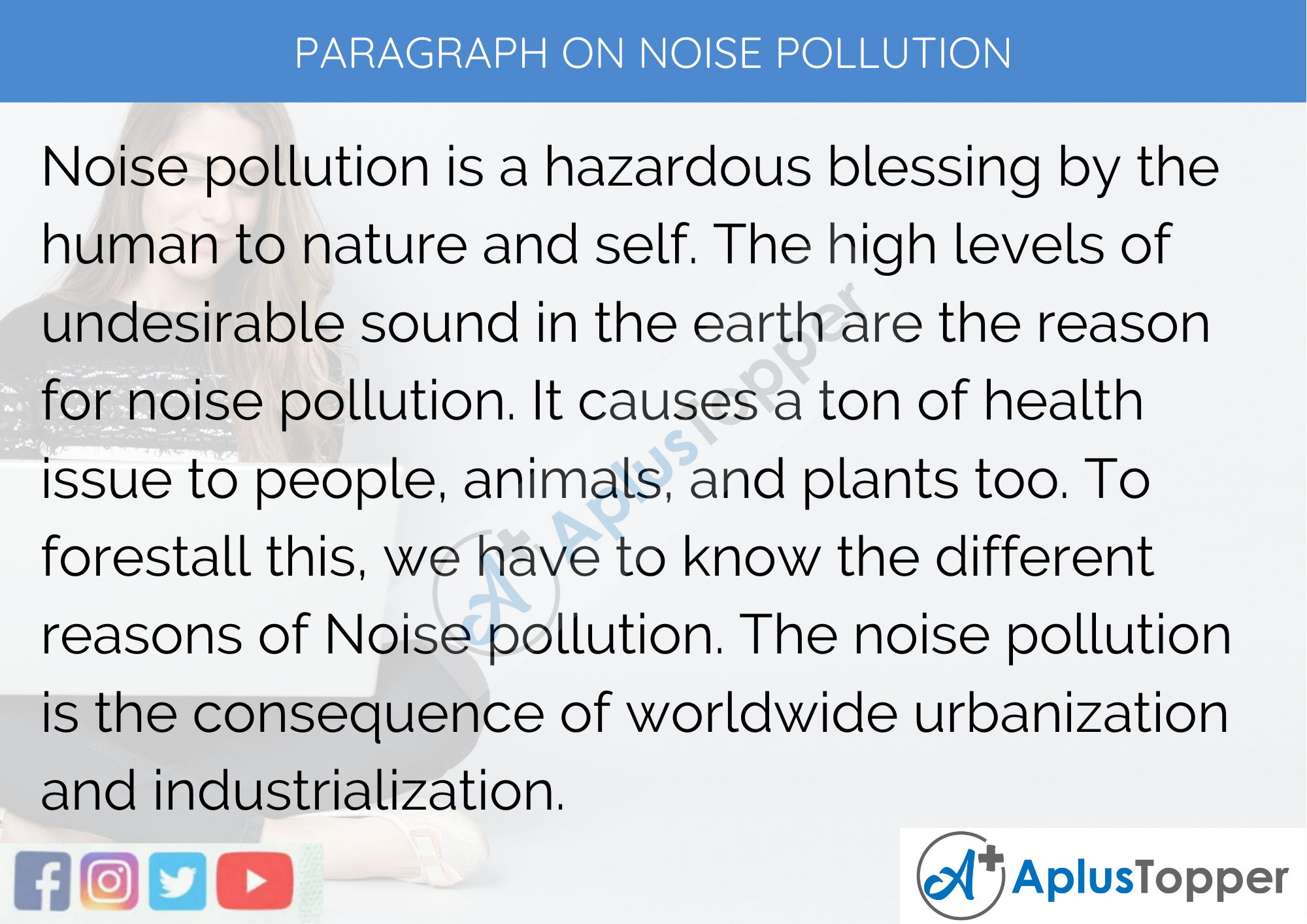 Paragraph On Noise Pollution - 250 to 300 Words for Classes 9, 10, 11, 12 And Competitive Exams Students