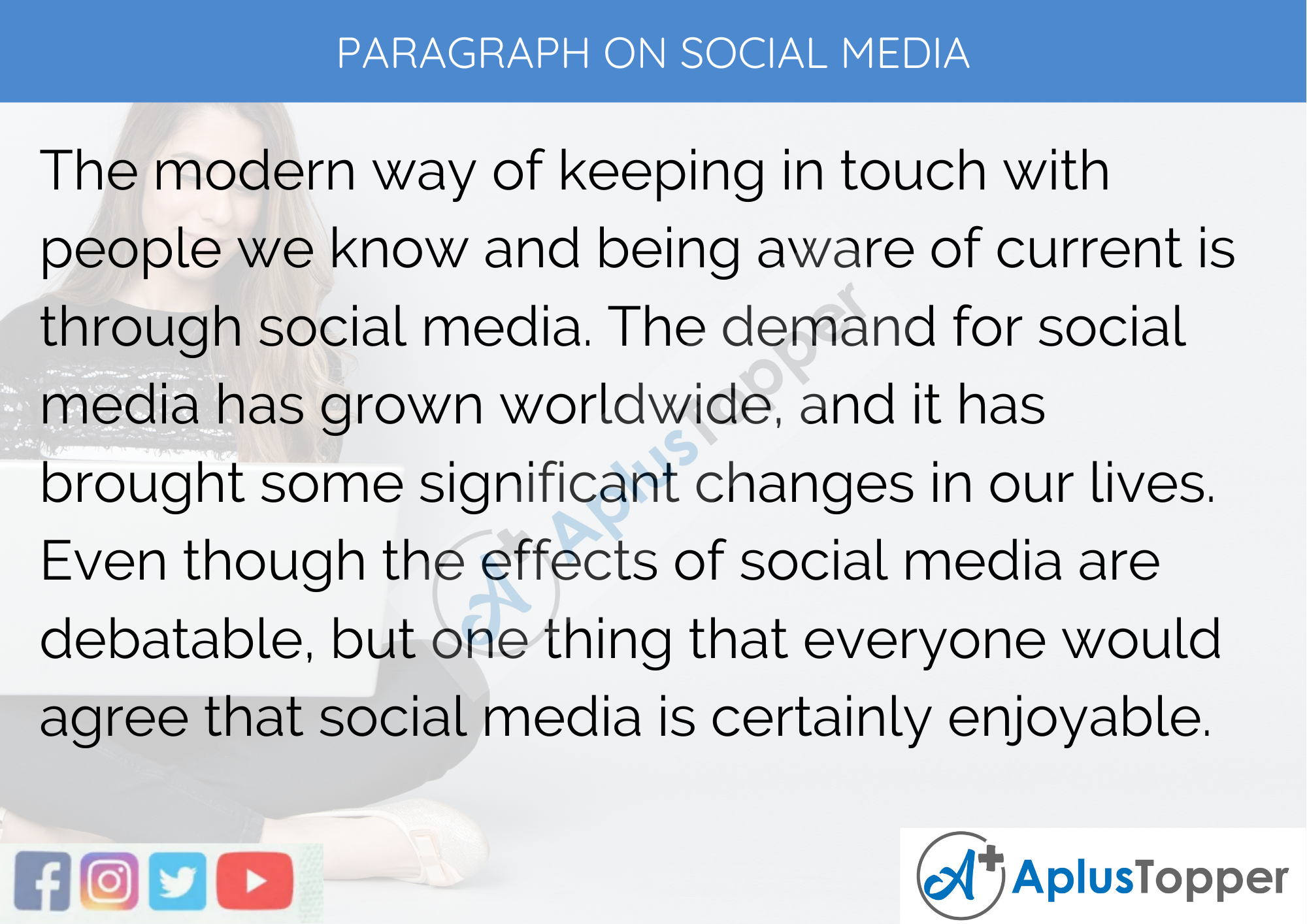 Paragraph On Social Media - 100 Words for Classes 1, 2, And 3 Kids