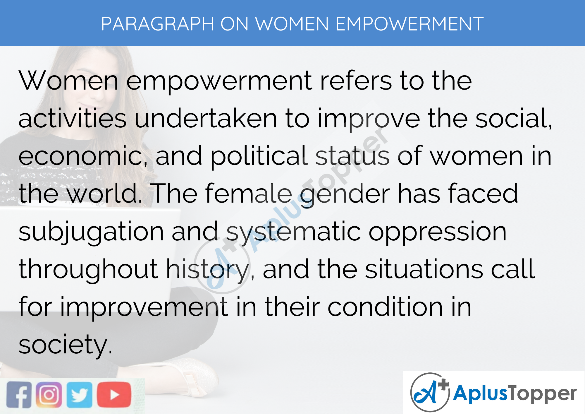Essay of women empowerment in india how to write not equal to in c language
