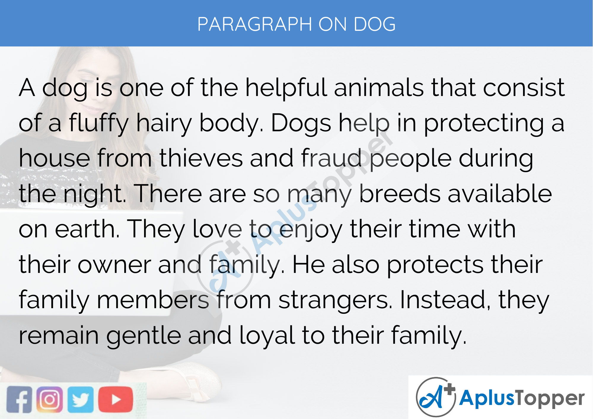 Paragraph on Dog - 100 Words for Classes 1,2,3 and Kids