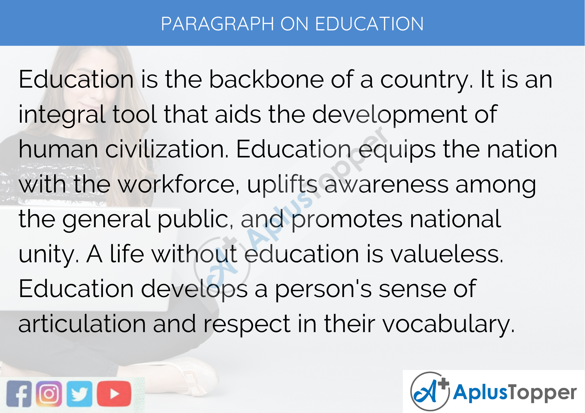 Paragraph on Education 30, 30, 30, 30 to 30 Words for Kids ...