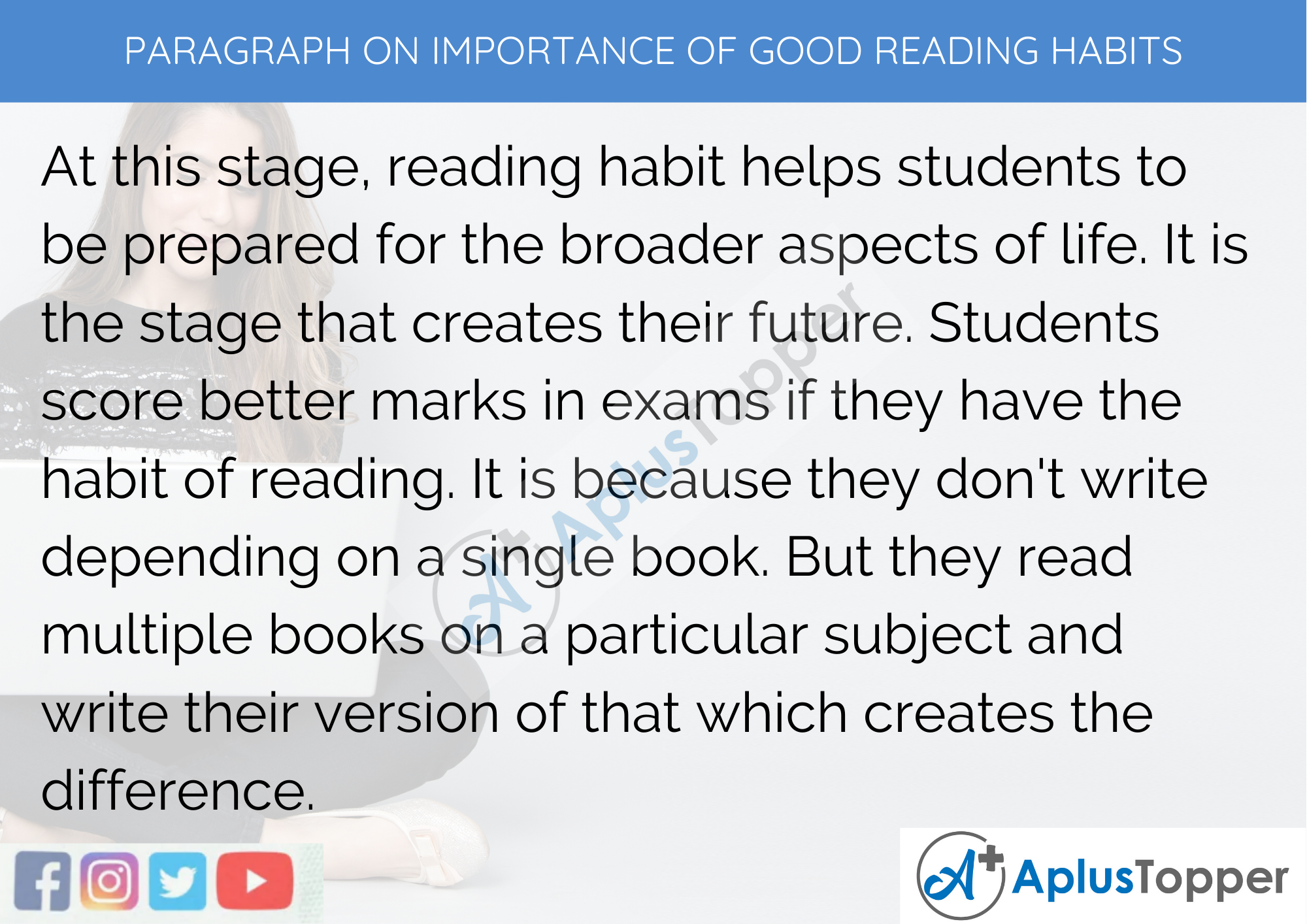 Paragraph on Importance of Good Reading Habits - 250 to 300 Words for Classes 9, 10, 11, 12 and Competitive Exams Students