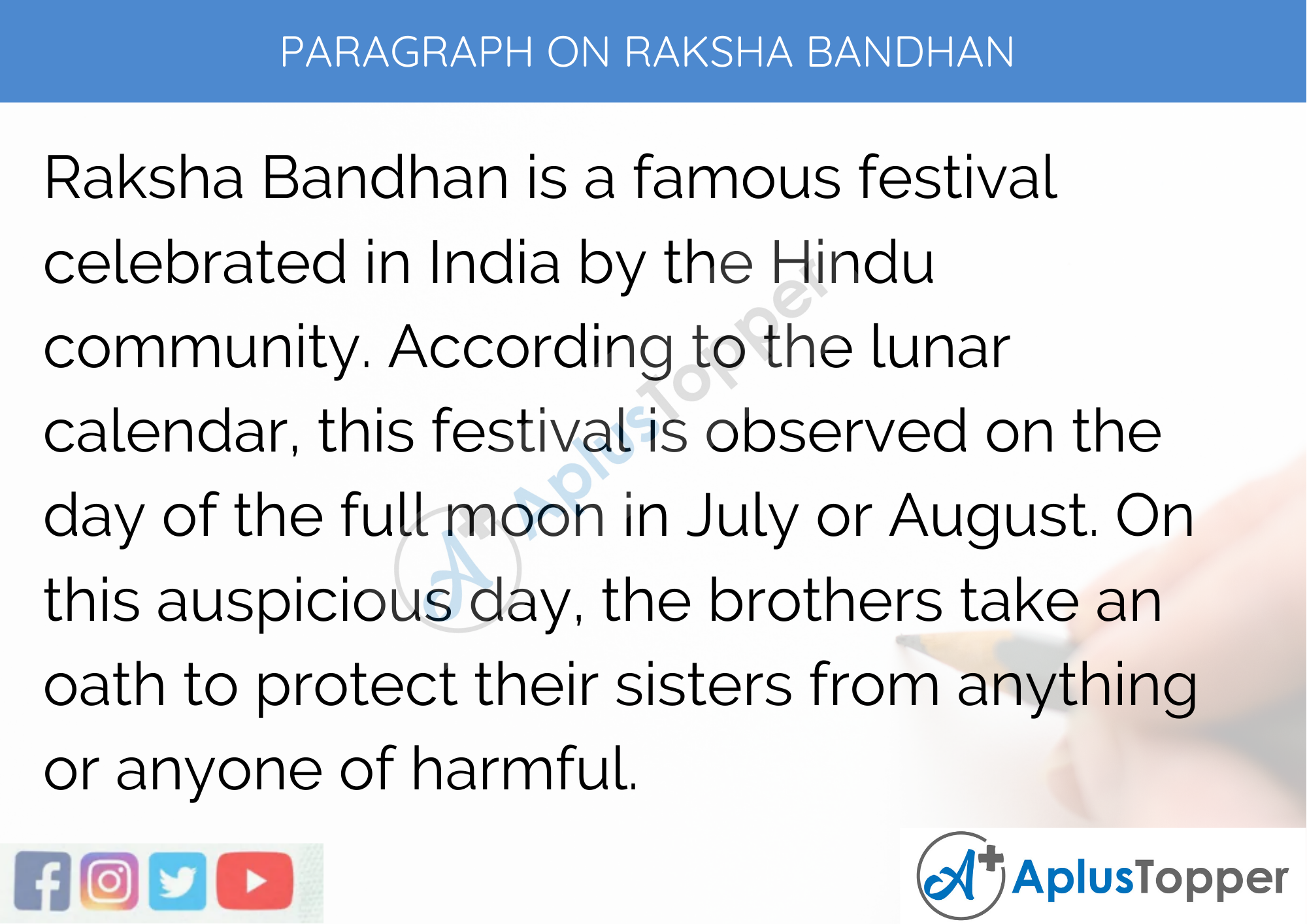 Paragraph on Raksha Bandhan - 250 to 300 Words for Classes 9, 10, and 11, 12 and Competitive Exams
