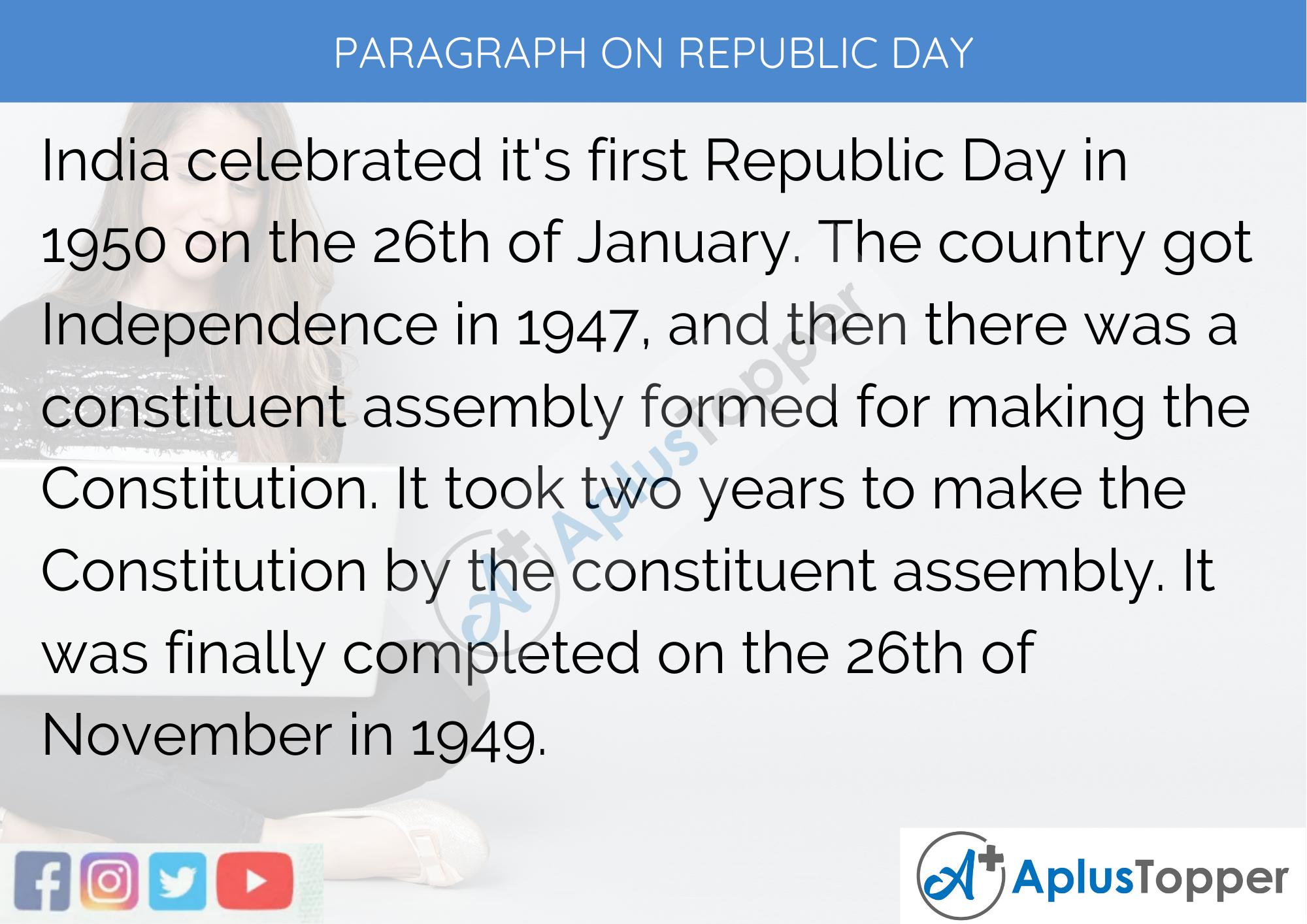 Paragraph on Republic Day - 250 to 300 Words for Classes 9, 10, 11, 12, and Competitive Exam Students