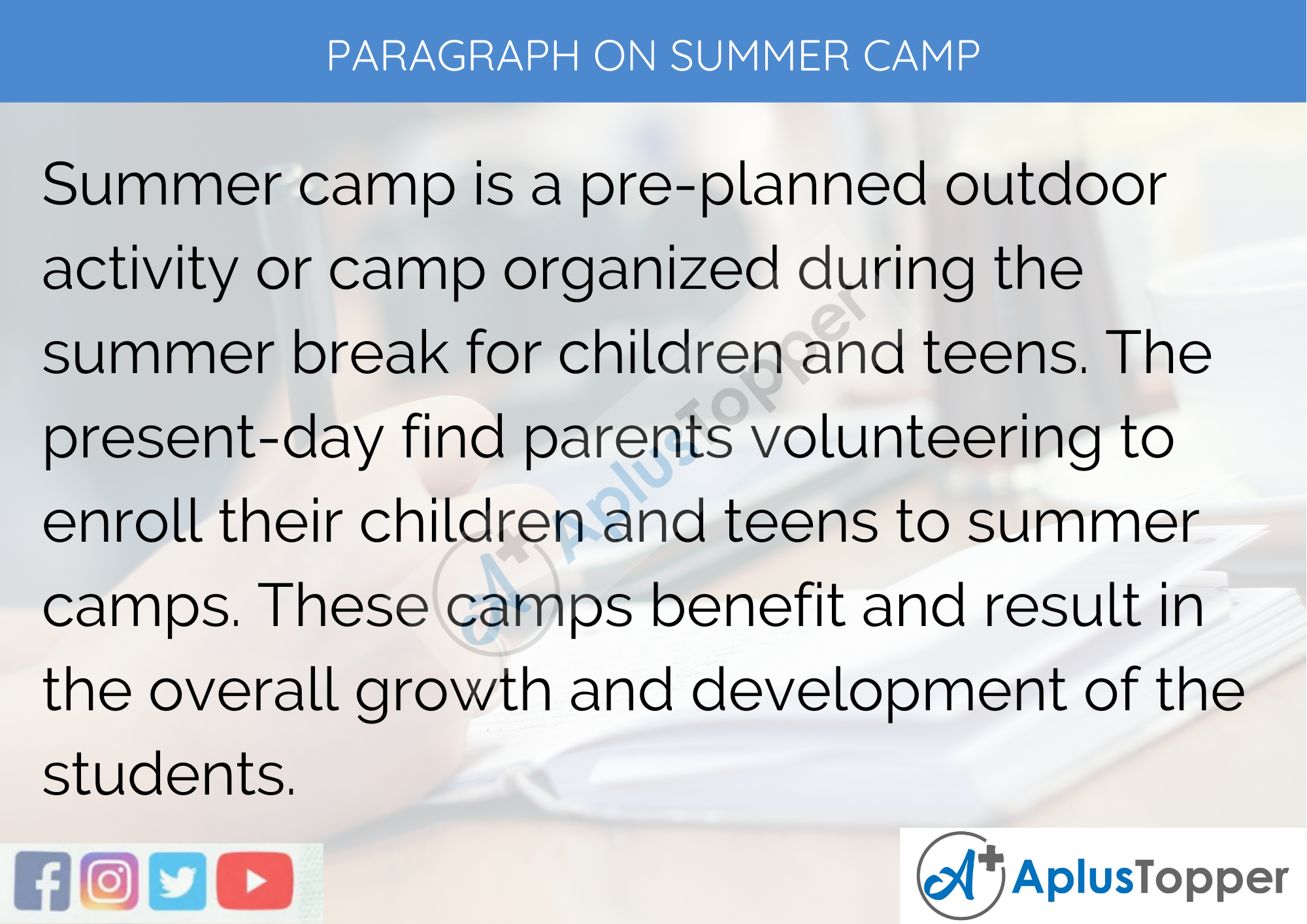 Paragraph on Summer Camp - 100 Words for Classes 1, 2, and 3 Kids