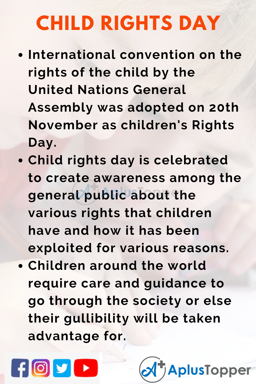 10 Lines on Child Rights Day for Kids