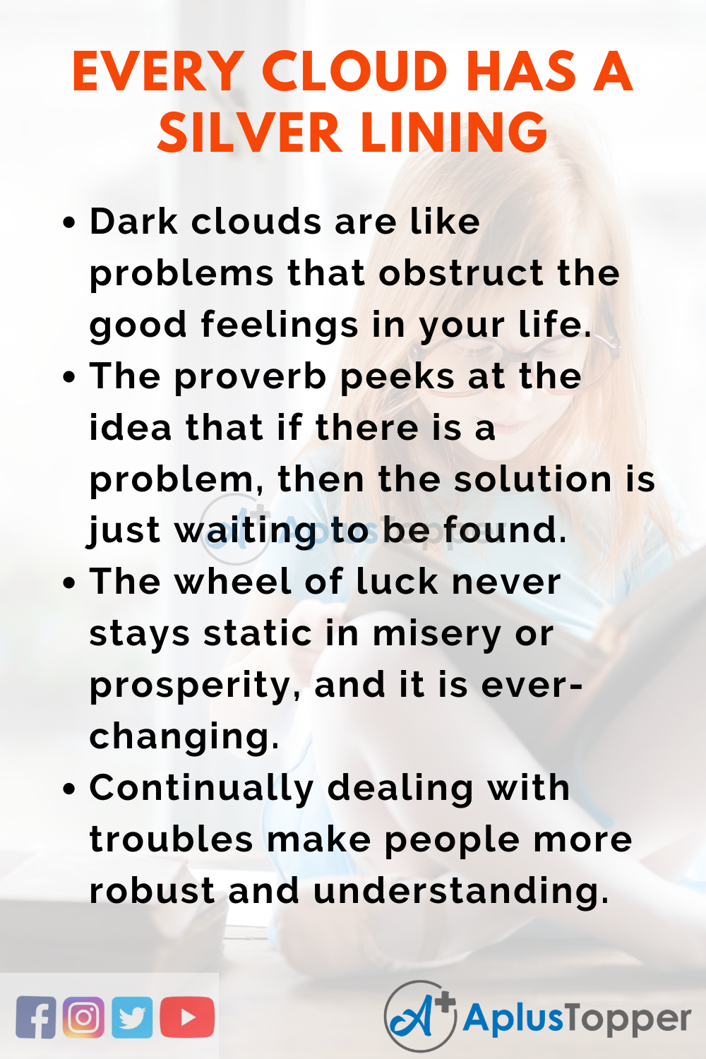 Short Essay On Every Cloud Has A Silver Lining 150 Words In English