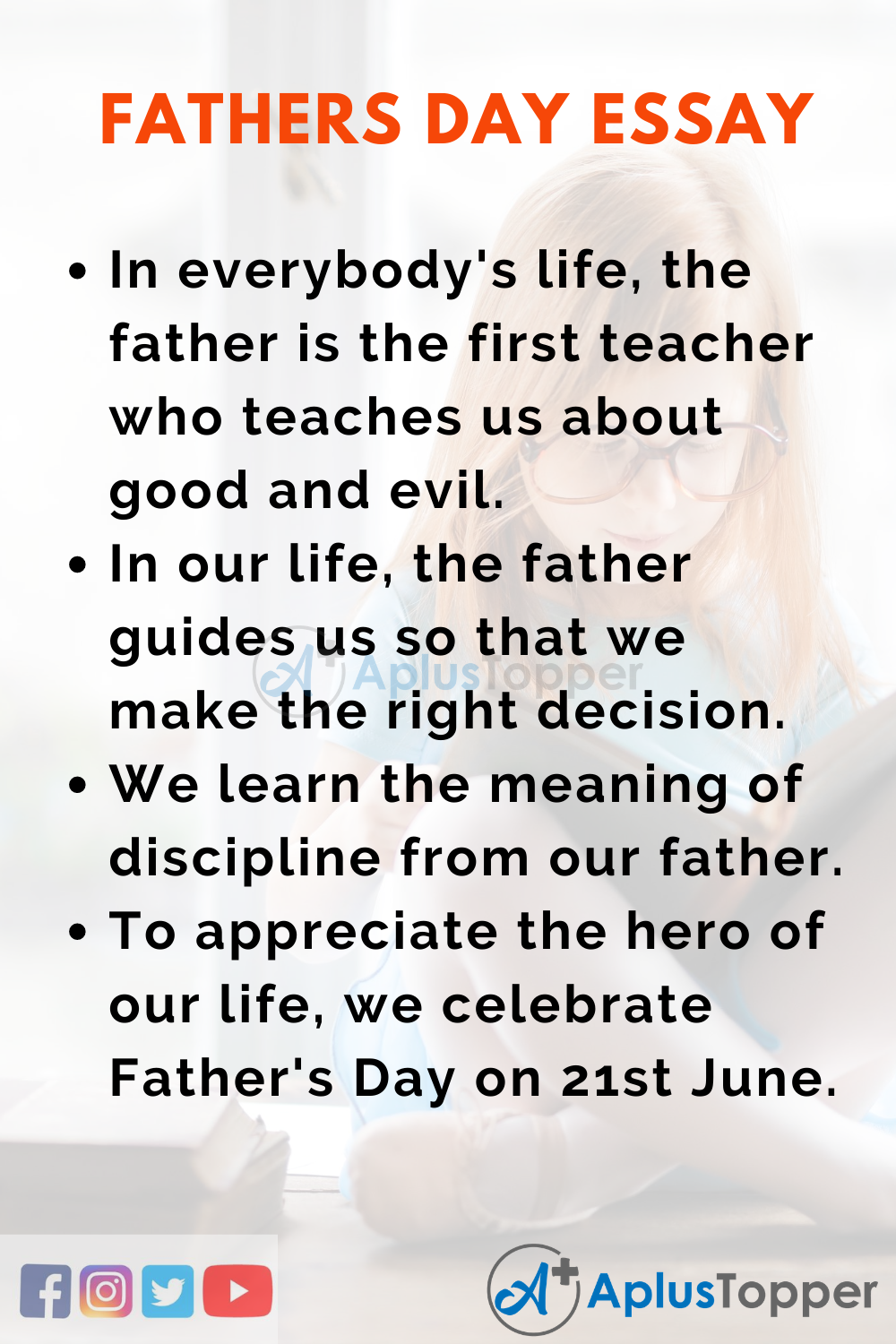 Short Essay on Father's Day 150 Words In English
