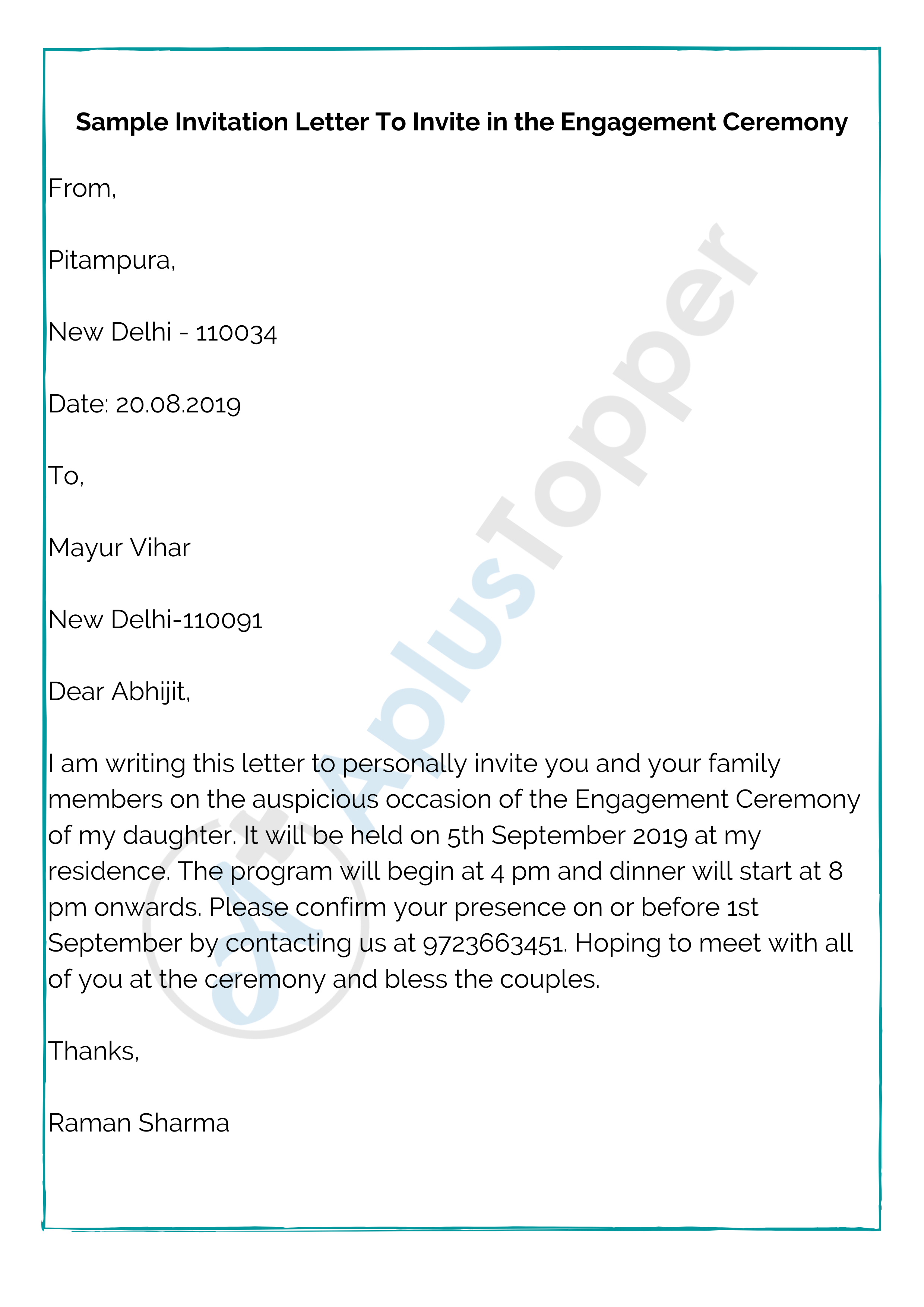 Invitation Letter  Format, Samples and How To Write An Invitation