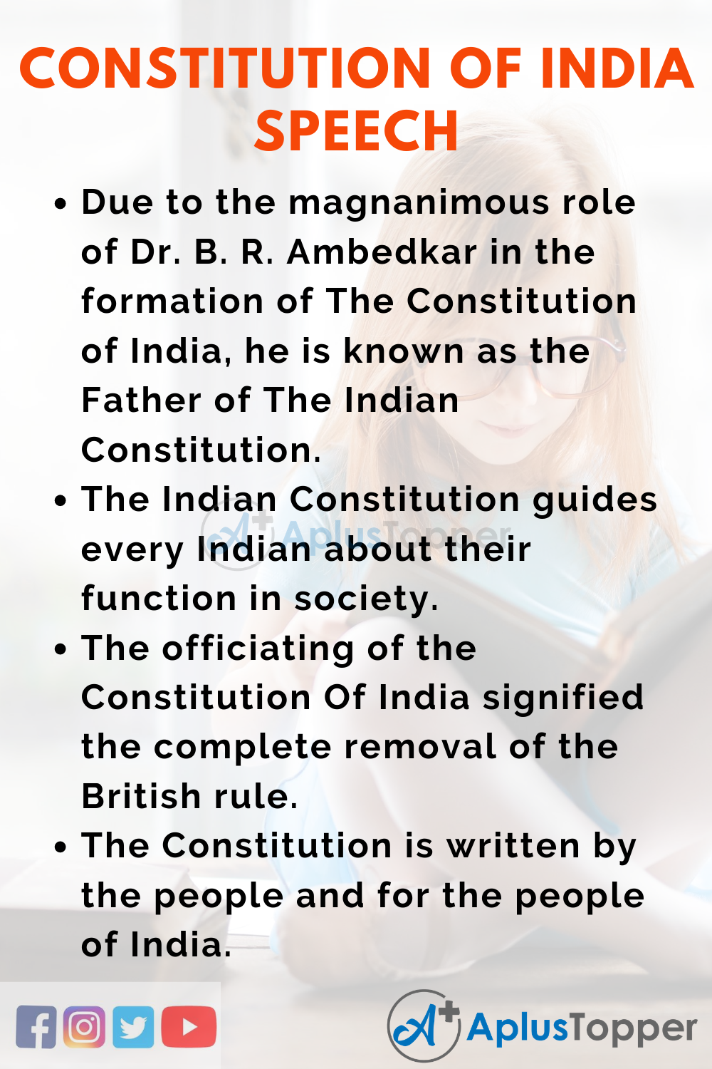 Constitution Of India Speech   Speech on Constitution Of India for ...