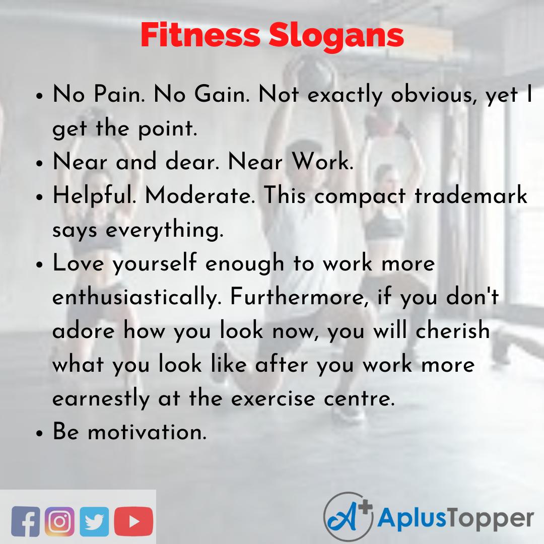 5 Fitness Slogans