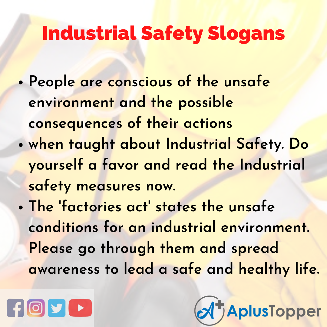 5 Slogan on Industrial Safety in English