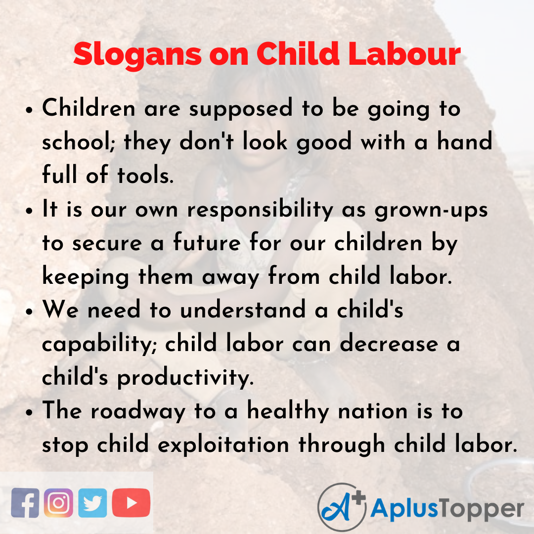 5 Slogans on Child Labour in English
