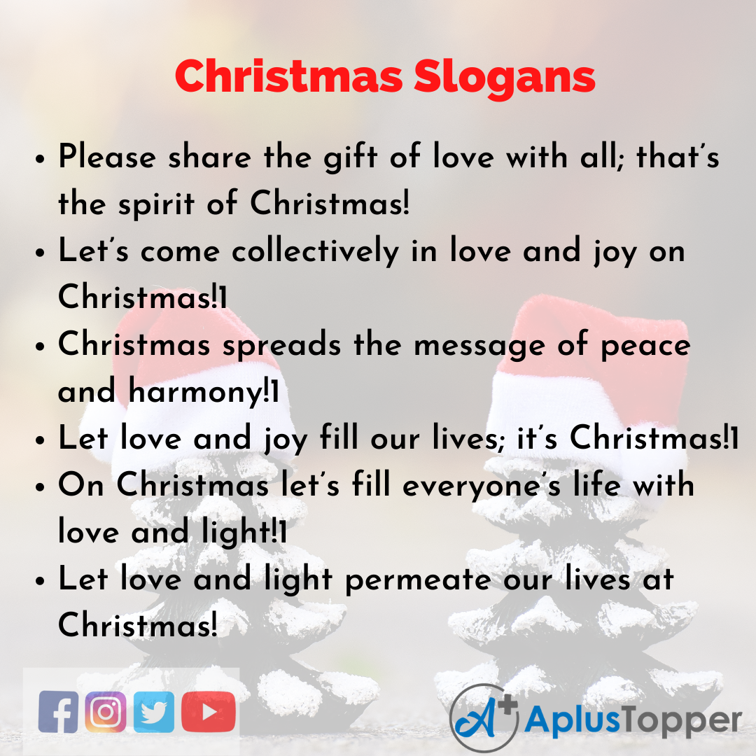5 Slogans on Christmas in English