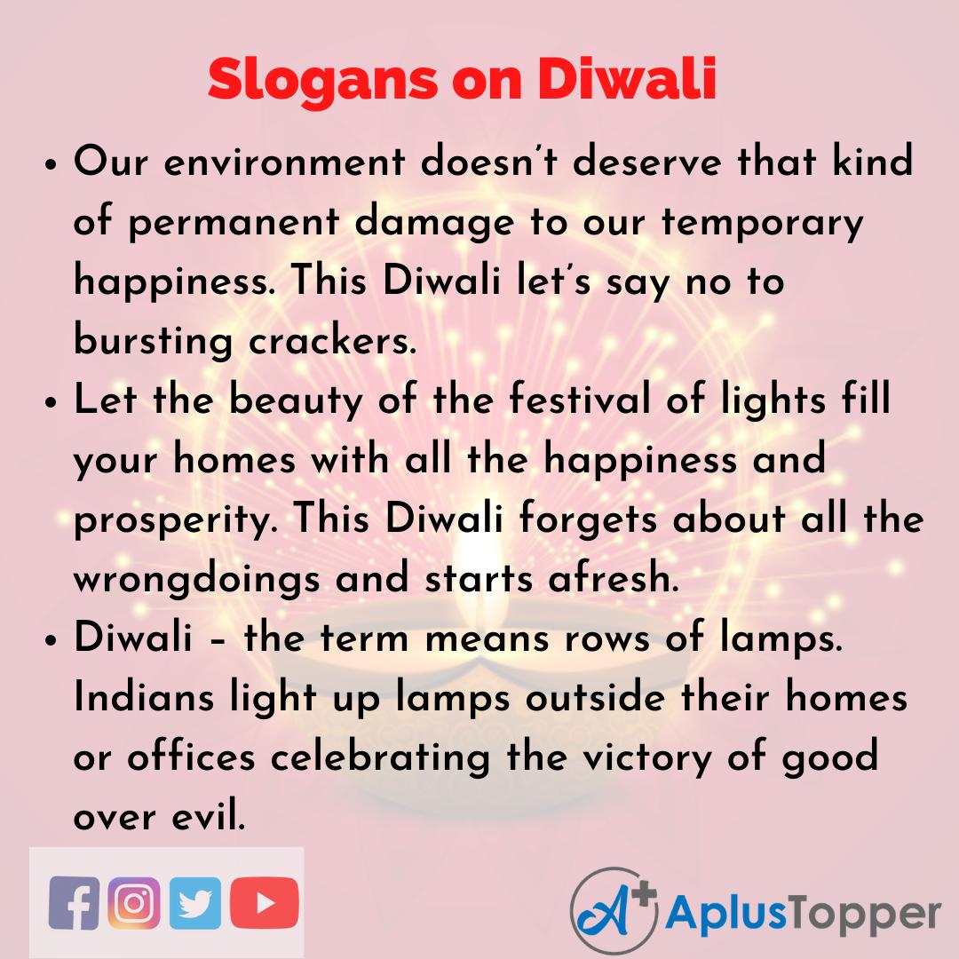 5 Slogans on Diwali in English