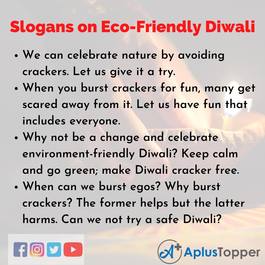 5 Slogans on Eco-Friendly Diwali in English