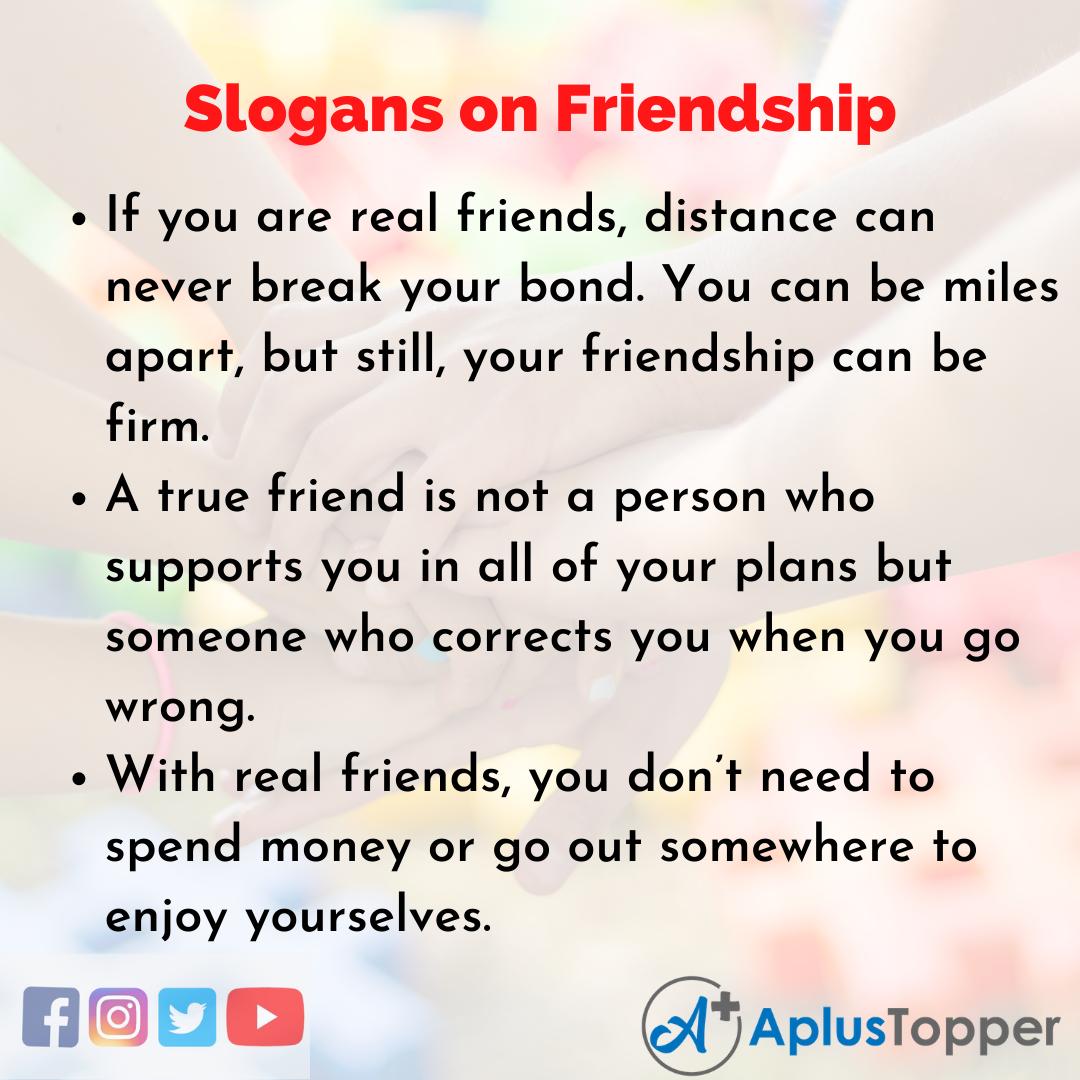 5 Slogans on Friendship in English