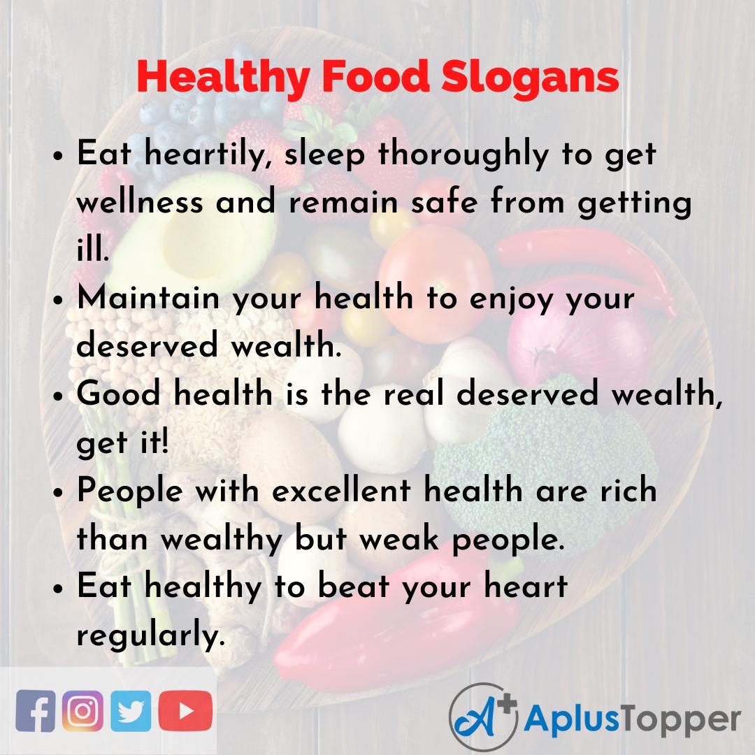 5 Slogans on Healthy Food in English