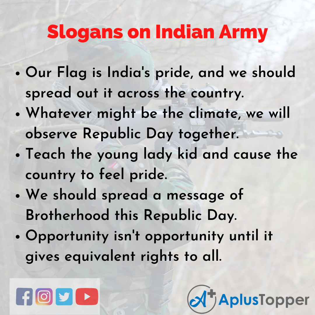 5 Slogans on Indian Army in English