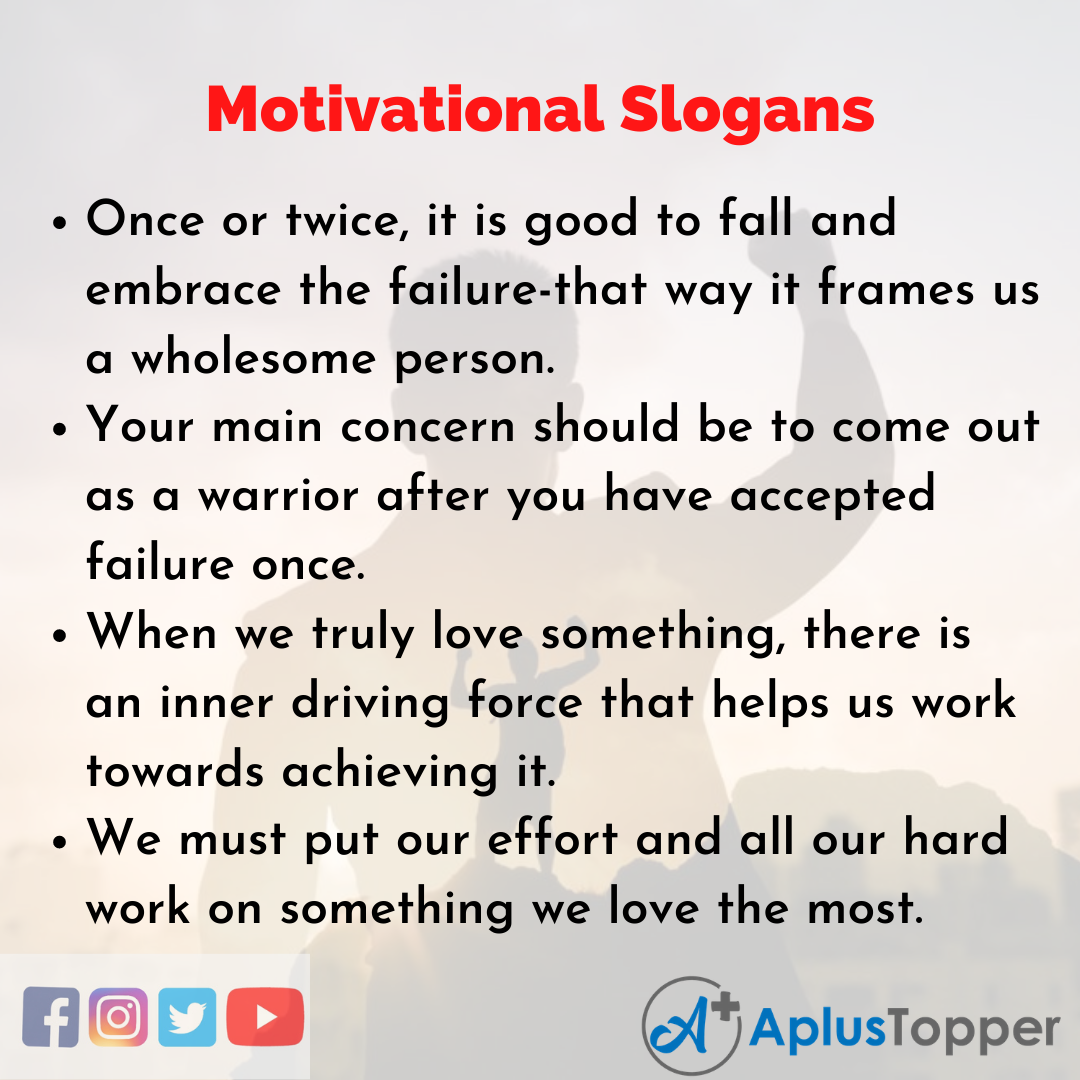 5 Slogans on Motivation in English