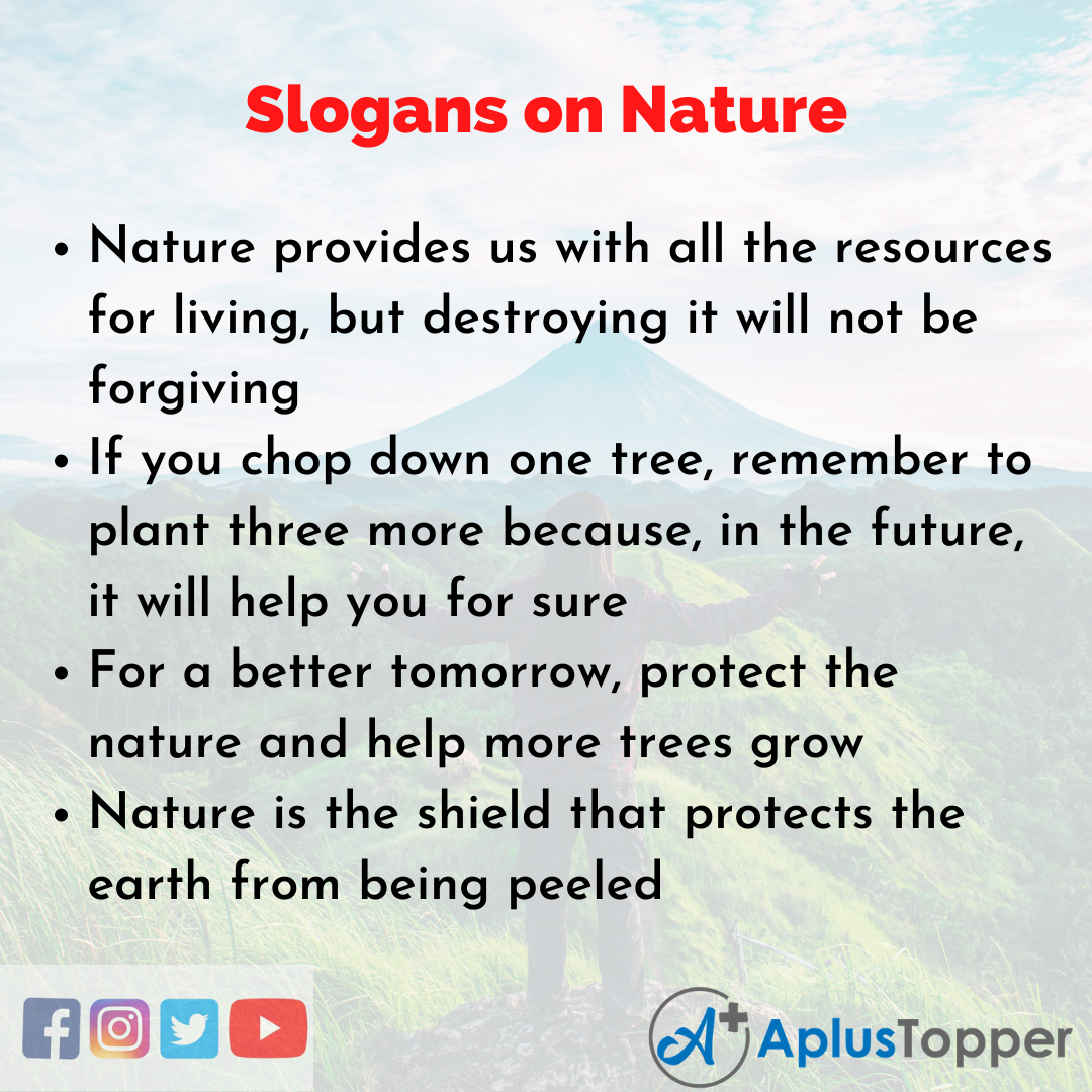 5 Slogans on Nature in English