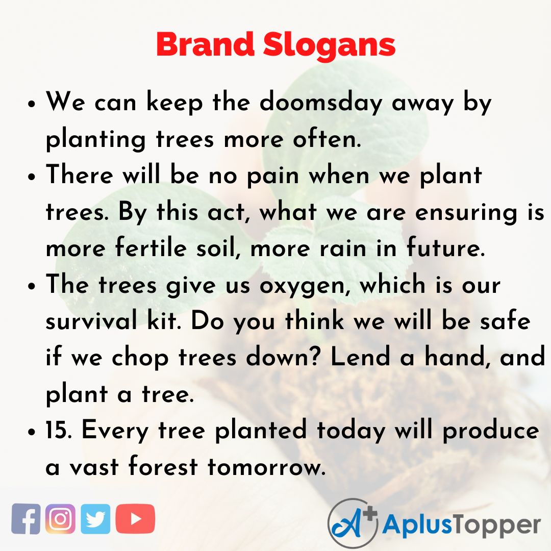 5 Slogans on Planting Trees in English