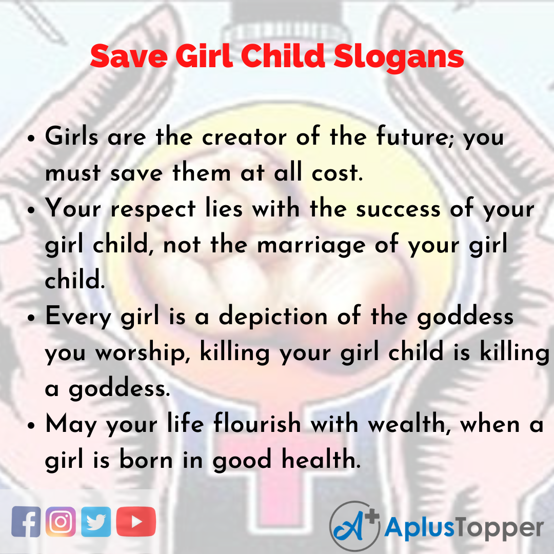 5 Slogans on Save Girl Child in English