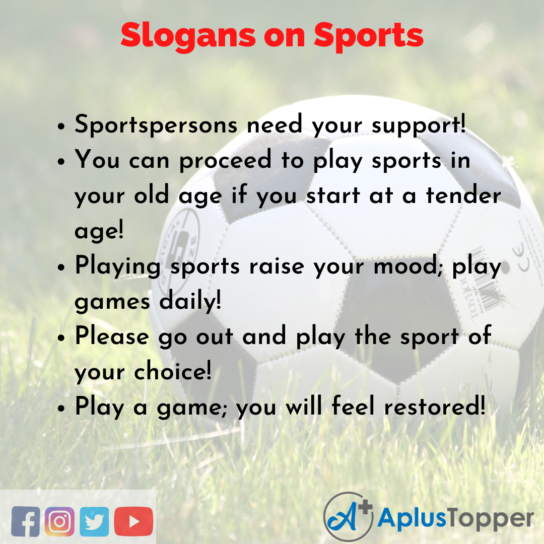 5 Slogans on Sports in English