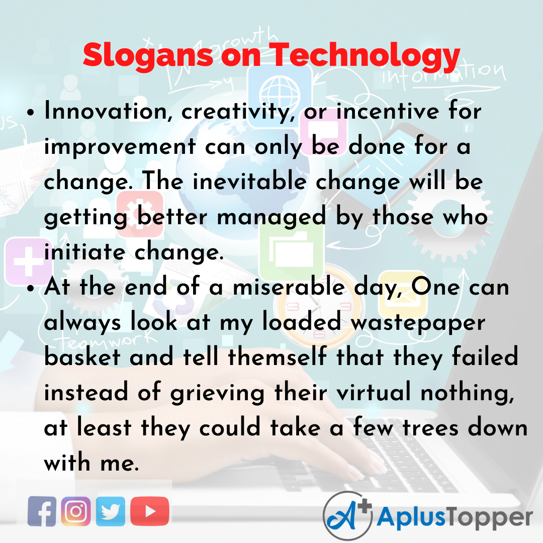 5 Slogans on Technology in English