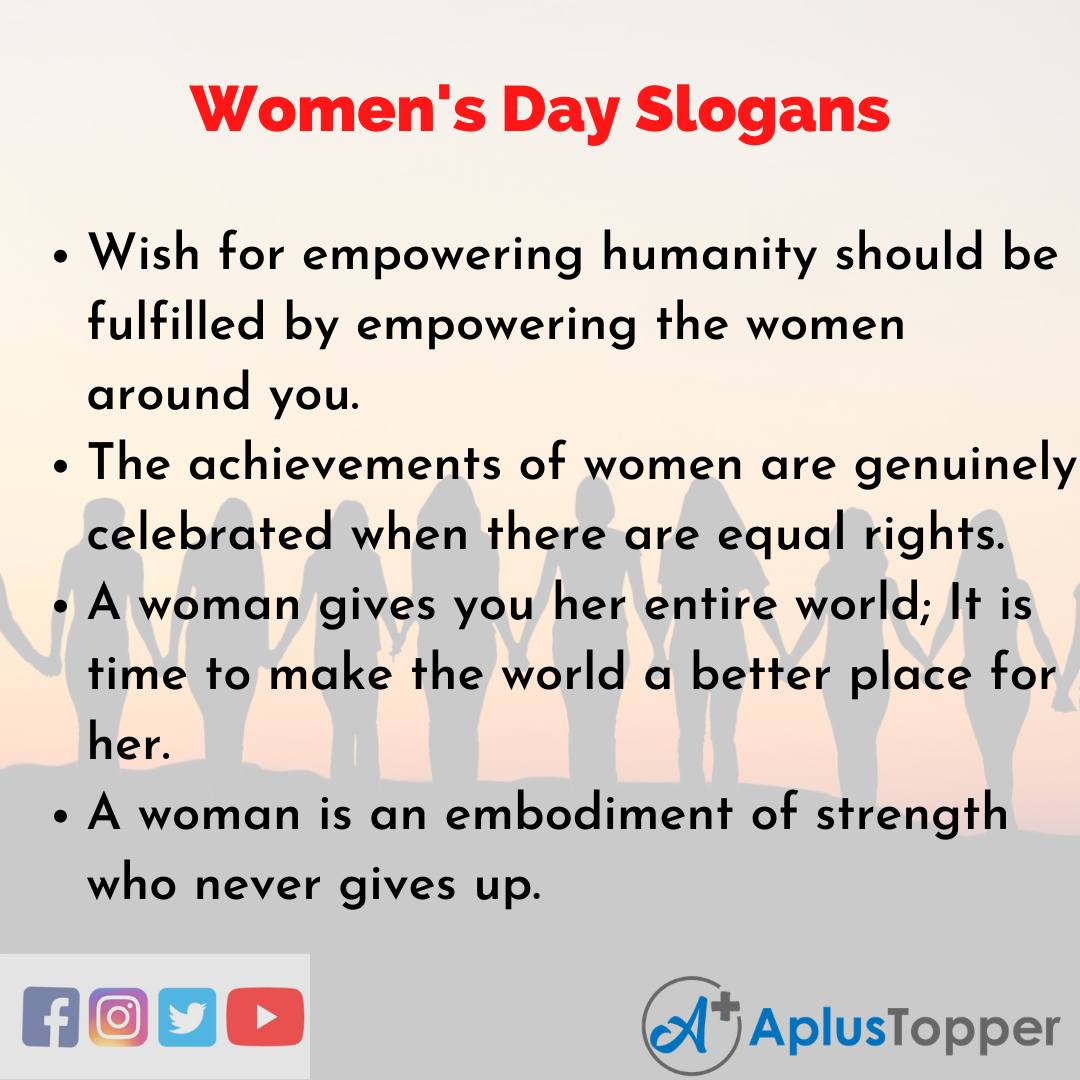 5 Slogans on Women's Day in English