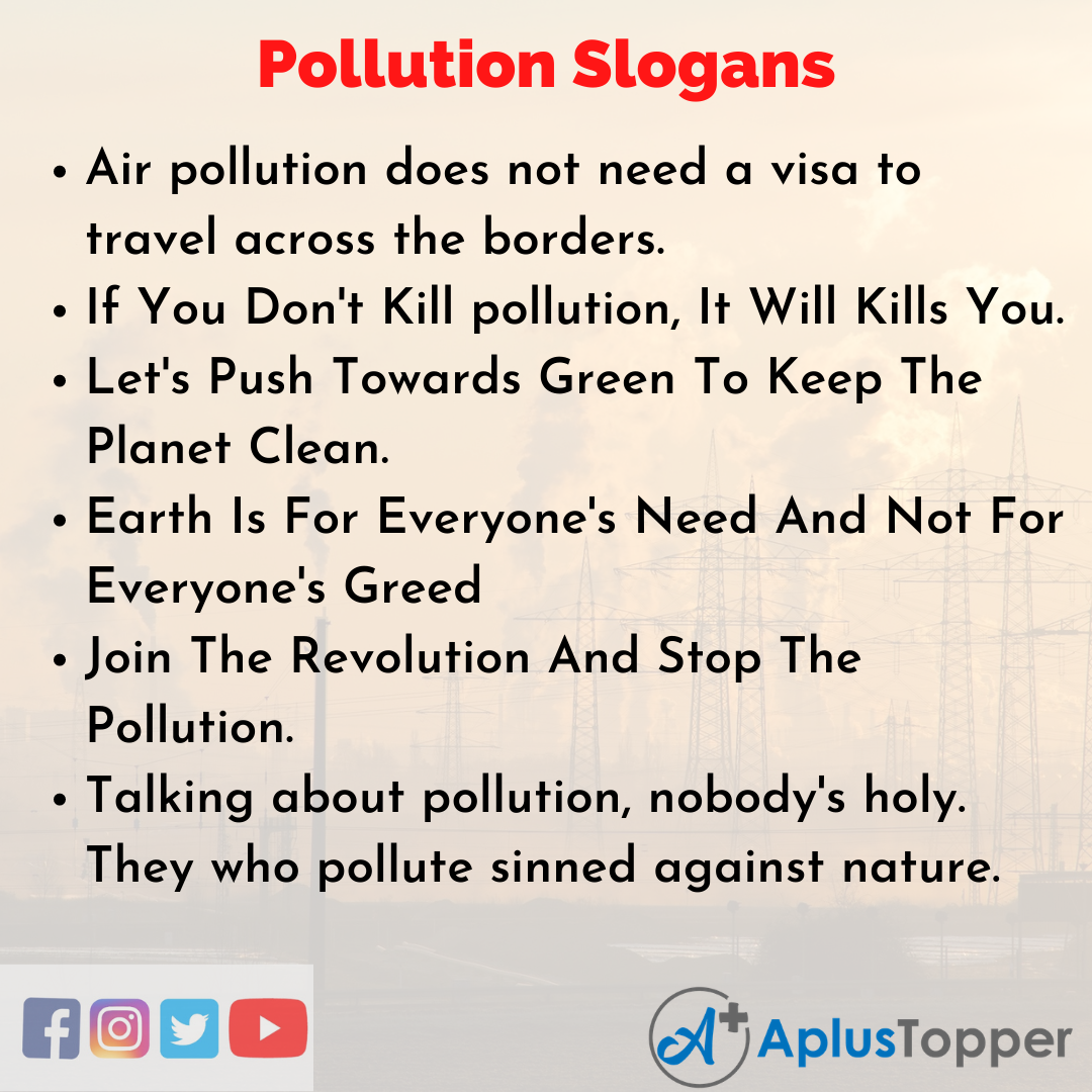 Catchy Pollution Slogans