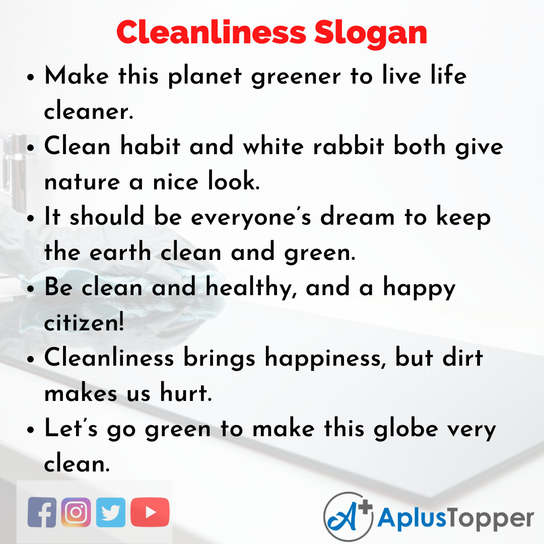 Catchy Slogans On Cleanliness