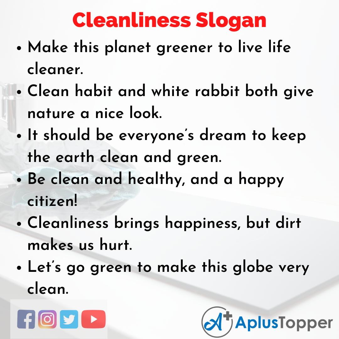 Slogans accrocheurs sur la propreté